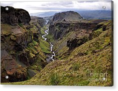 Landscape Of Canyon And River In Acrylic Print by Vaclav P3k