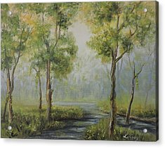 Landscape Of The Great Swamp Of New Jersey With Pond Acrylic Print