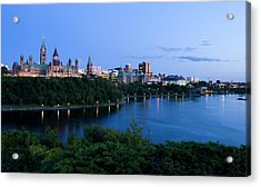 Landscape Shot Of The Ottawa Skyline In Acrylic Print