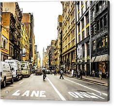 Lane Only  Acrylic Print