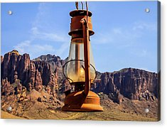 Lantern Over Superstitions Acrylic Print