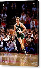 Larry Bird Drives Acrylic Print