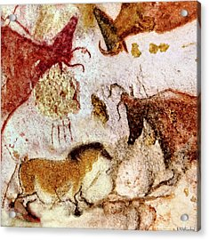 Lascaux Horse And Cows Acrylic Print