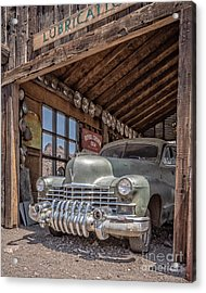 Last Chance Gas Vintage Car Abandoned Gas Station Acrylic Print