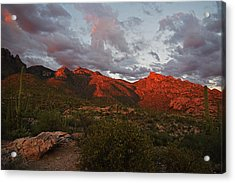 Last Light On Catalina Mountains Acrylic Print