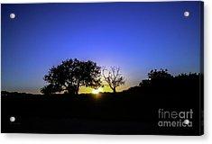 Last Light Texas Hill Country Paradise Canyon Sunset 8053a Acrylic Print