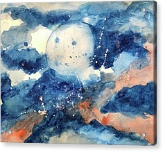 Last Nights Magic Moon Acrylic Print