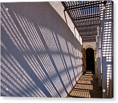 Lattice Shadows Acrylic Print