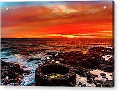 Lava Bath After Sunset Acrylic Print