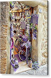 Acrylic Print featuring the photograph Lavender Shop Pienza by Dorothy Berry-Lound