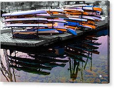 Layers And Layers By The Water Acrylic Print