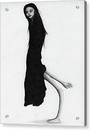 Leaning Woman Ghost - Artwork Acrylic Print