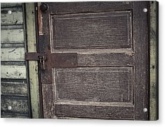 Leather Door Acrylic Print