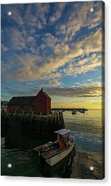 Acrylic Print featuring the photograph Leaving Safe Harbor by Juergen Roth