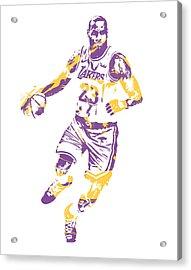 Lebron James Los Angeles Lakers Pixel Art 3 Acrylic Print