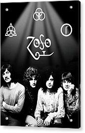 Led Zeppelin Band Tribute Acrylic Print