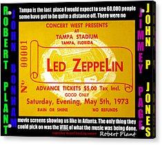 Led Zeppelin Tampa Stadium 1973 Concert Acrylic Print