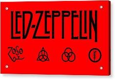 Led Zeppelin Z O S O - Transparent T-shirt Background Acrylic Print