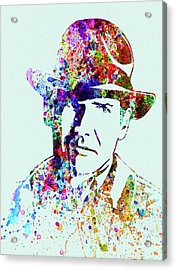 Legendary Indiana Jones Watercolor Acrylic Print