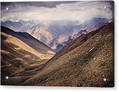 Acrylic Print featuring the photograph Leh-manali Mountains by Whitney Goodey