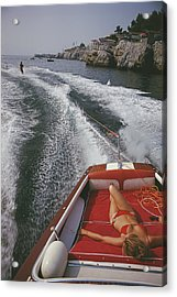 Leisure In Antibes Acrylic Print by Slim Aarons