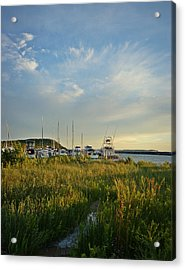 Leland Harbor At Sunset Acrylic Print