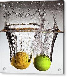 Lemon Square Acrylic Print by François Dorothé