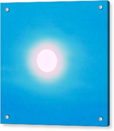 Acrylic Print featuring the photograph Leo Blue Moon In Turquoise by Judy Kennedy