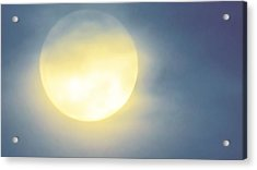 Acrylic Print featuring the photograph Leo Blue Super Moon by Judy Kennedy