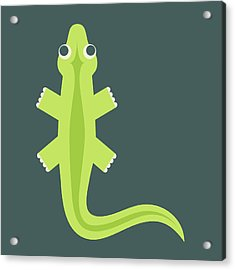 Letter L - Animal Alphabet - Lizard Monogram Acrylic Print