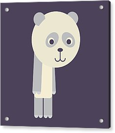 Letter P - Animal Alphabet - Panda Monogram Acrylic Print