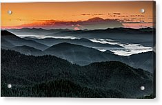 Lewis And Clark Route Acrylic Print by Leland D Howard