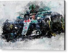 Lewis Hamilton, Mercedes Amg F1 W09 - 10 Acrylic Print