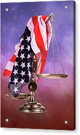 Liberty And Justice For All Acrylic Print