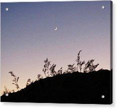 Libra Twilight Crescent Acrylic Print