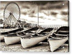 Lifeguard Boats At Wildwood New Jersey Acrylic Print