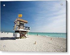 Lifeguard Station, Miami Beach Acrylic Print