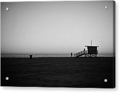Lifeguard Tower In Santa Monica Acrylic Print by Stephen Albanese