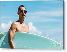 Lifestyle Series  Asian Man Holding Acrylic Print