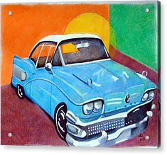 Light Blue 1950s Car  Acrylic Print