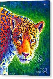 Light In The Rainforest - Jaguar Acrylic Print