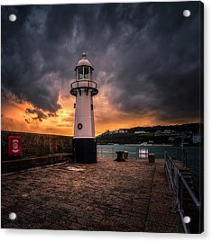 Lighthouse Dramatic Sky Acrylic Print