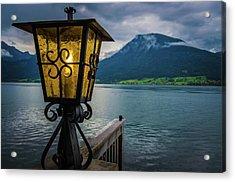 Lighthouse On The Sank Wolfgang Lake Acrylic Print