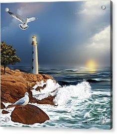 Lighthouse Sunset Acrylic Print
