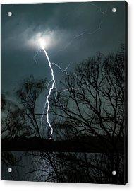 Lightning Bolt Over Little Sugarloaf Acrylic Print