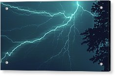 Lightning Grid Acrylic Print