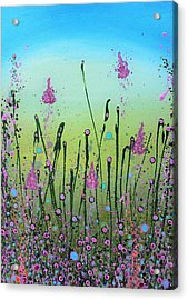 Lilacs And Bluebells Acrylic Print