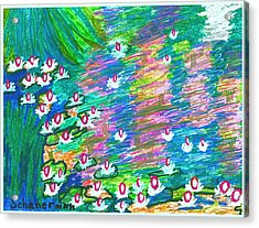 Lilies Of The Pond Acrylic Print