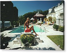 Lillian Crawford Acrylic Print by Slim Aarons