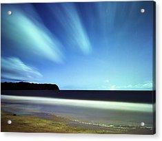 Linear Clouds Over Mayaro Acrylic Print